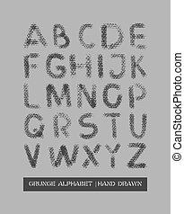alphabet grunge