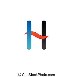 Alphabet h logo graphic template vector