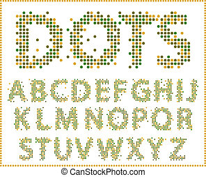 alphabet., halftone