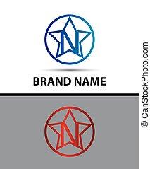 Alphabet icon N logo design vector