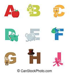 Alphabet illustration