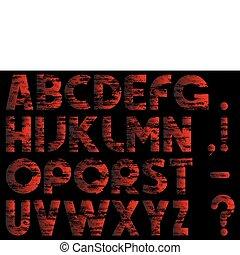 Alphabet in style grunge