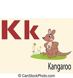 alphabet, k, animal