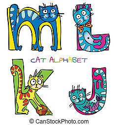 alphabet, k, j, m, l, chat