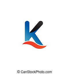 Alphabet k logo graphic template vector