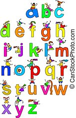 alphabet, kinder