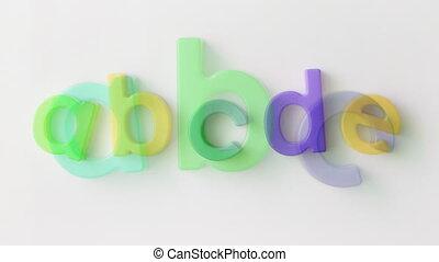 alphabet  kitchen magnets