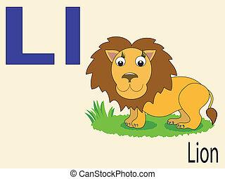 alphabet, l, animal