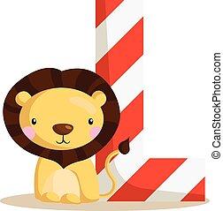 Alphabet L for Lion