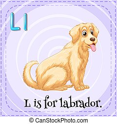 Alphabet L is for labrador illustration