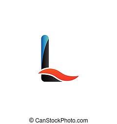 Alphabet l logo graphic template vector