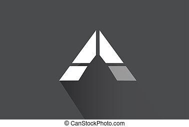 Alphabet letter A long shadow logo icon design