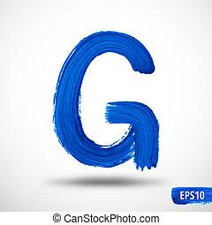 Alphabet Letter G. Watercolor Alphabet. Vector Background