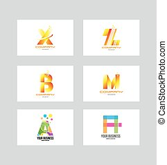 Alphabet letter icon logo set