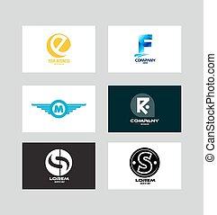 Alphabet letter icon logo set