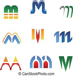 Alphabet letter M - Set of alphabet symbols and elements of...