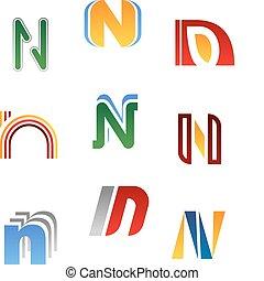 Alphabet letter N - Set of alphabet symbols and elements of ...