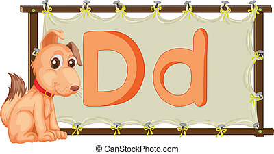 Alphabet letter on a canvas - Alphabet letter illustration...