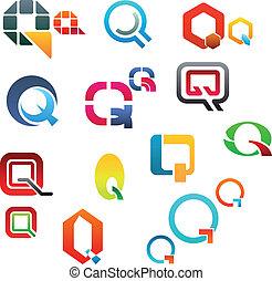 Alphabet letter Q - Set of alphabet symbols and elements of ...