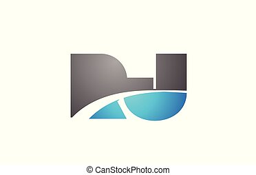 alphabet letter rj r j logo company icon design