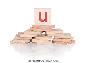 Alphabet - letter U