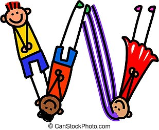 Alphabet Letter W Kids