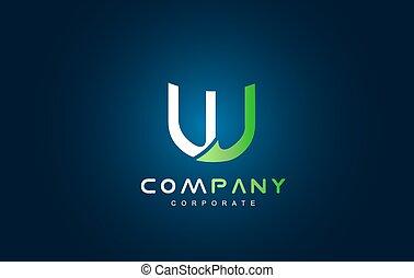 Alphabet letter W logo icon design