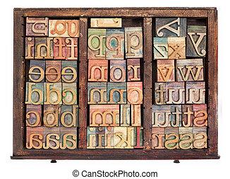 letterpress wood type