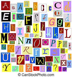 Alphabet Magazine Letters isolated so you can make your own unique words.