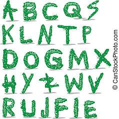 Alphabet letters crass