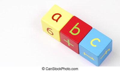 Alphabet letters. Education