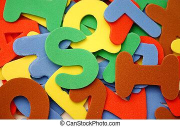 Alphabet letters - foam letters