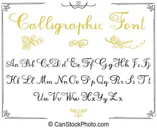 Alphabet letters, hand drawn
