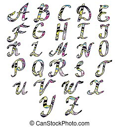 Alphabet letters Hand drawn illustration