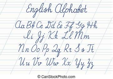 Alphabet Letters Uppercase Lowercase Elegant Calligraphy