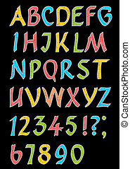 Alphabet letters with numbers