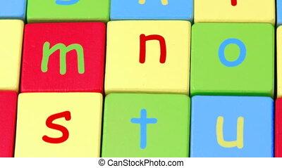 Alphabet letters.Education