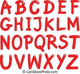 alphabet, lettres, capital