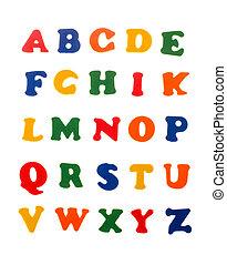 alphabet, lettres, coloré