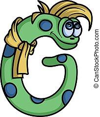 alphabet:, levél, szörny, g betű