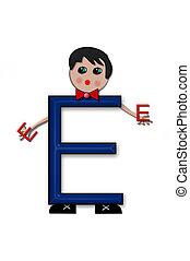 Alphabet Living Letters E