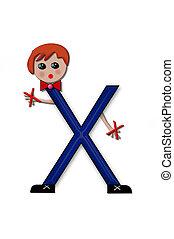 Alphabet Living Letters X