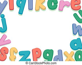 Alphabet Lower Case Set Border