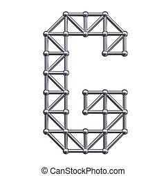 alphabet, métal, lettre g