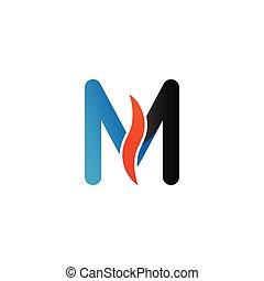 Alphabet m logo graphic template vector