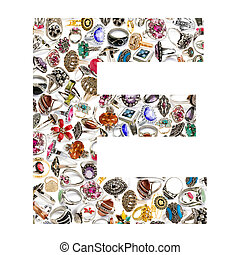 Alphabet made of letters