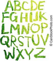 alphabet., manuscrito