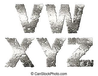 alphabet., metálico