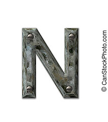 Alphabet Metal Grunge N - Letter N, in the alphabet set ...