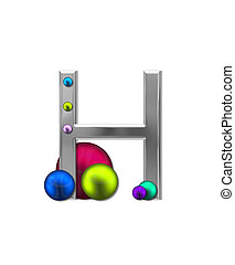Alphabet Metal Marbles H - The letter H, in the alphabet set...